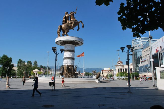 Macedonians rally against name change
