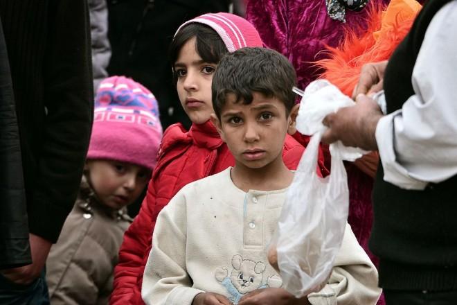 Les migrants d'Idomeni solidaires avec Bruxelles