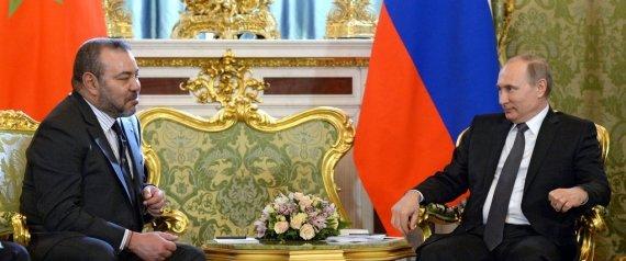 Le roi du Maroc en visite à Moscou