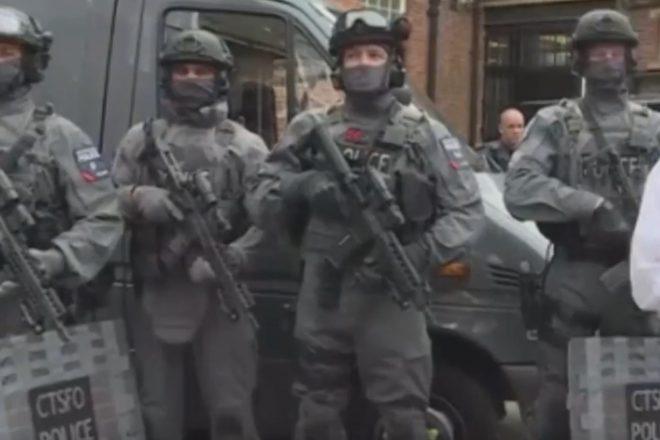 UK police raid terror suspects