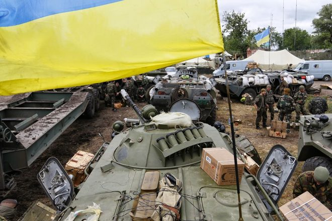 Civilians prepare to flee Ukraine conflict