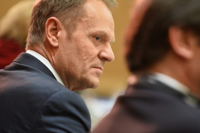 Tusk refuses to talk trade with May