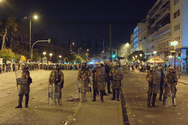 Anti-austerity riots hit Athens