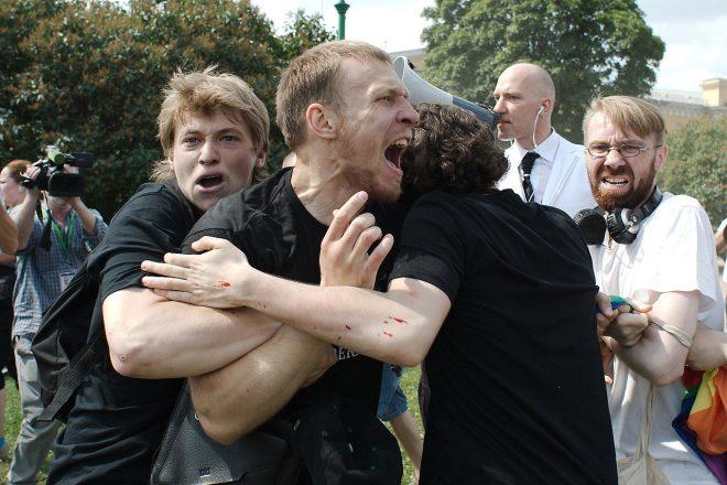 Merkel quizzes Putin on gay rights