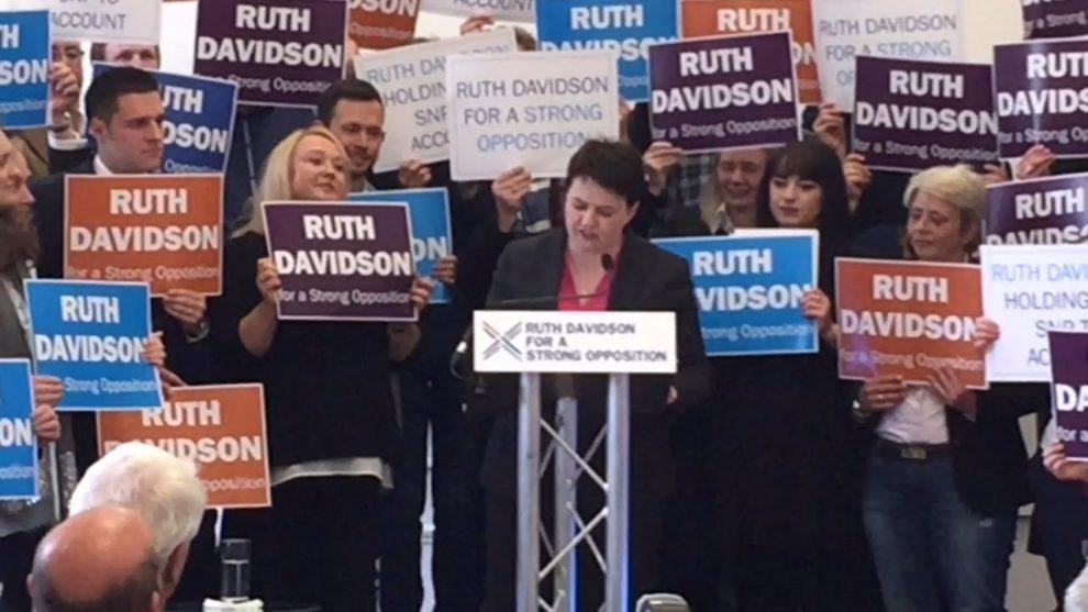 Scottish Tory chief denies May rift