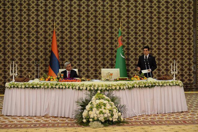 Les présidents arménien et turkmène concluent plusieurs accords de coopération