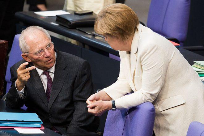 Schaeuble sacked as coalition offer