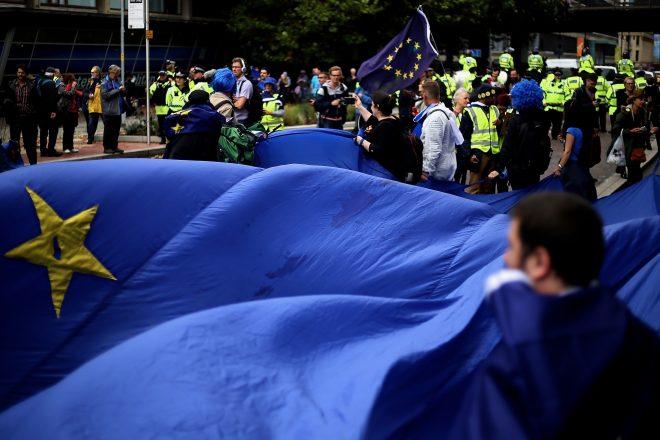 May talks tough on EU Irish demands