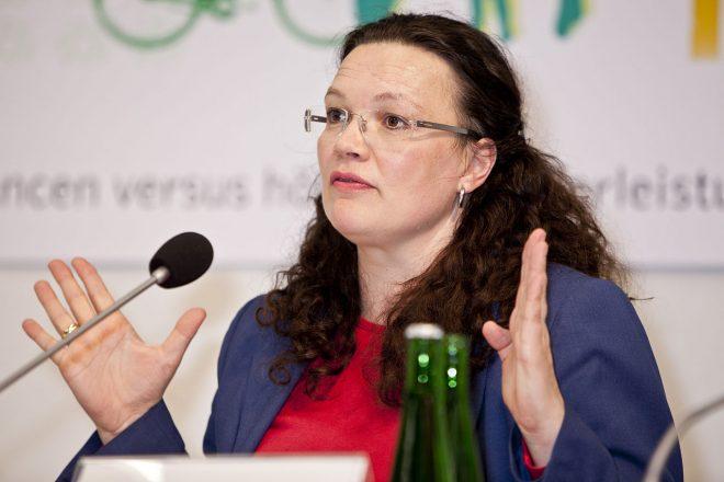 Le SPD dit oui à Andrea Nahles