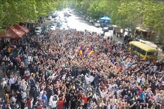 Armenian protest chief arrested