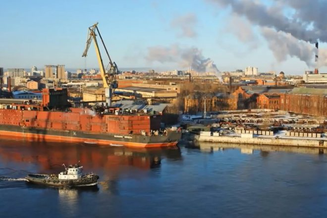 'Floating Chernobyl' leaves St Petersburg