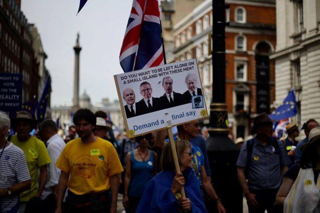 May and Johnson squabble amid Brexit meltdown