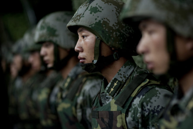 Chinese arrive as war games start