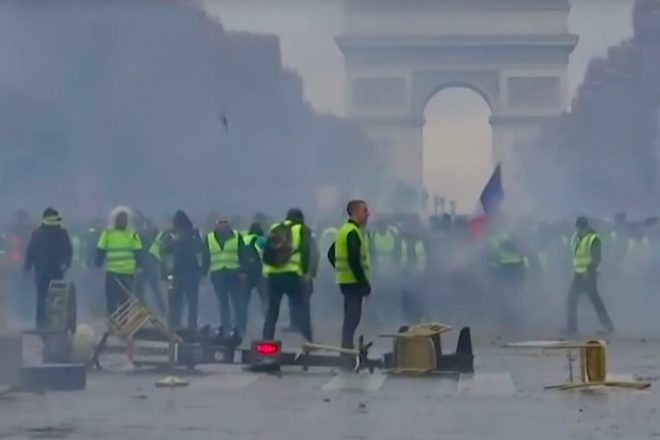 Paris chokes on tear gas amid riots