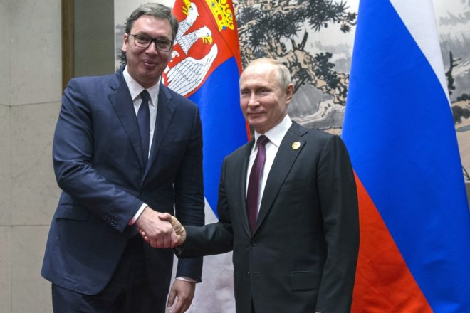 Serbia's Vucic vows to preserve Russia ties