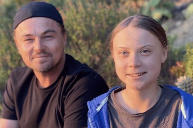 Sweden's Thunberg meets DiCaprio and leads LA rally