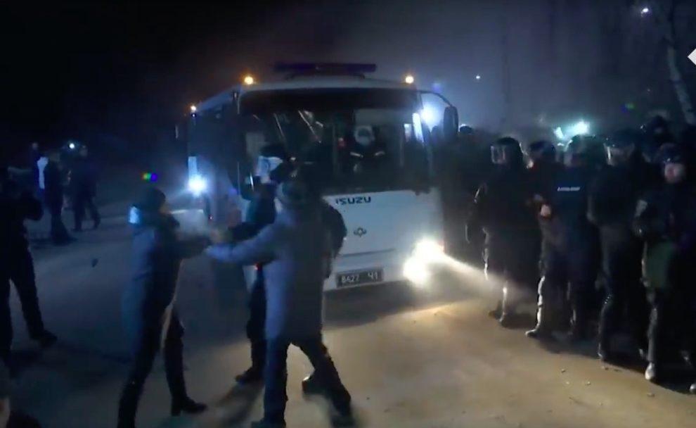 Violence grips Ukraine amid coronavirus hysteria